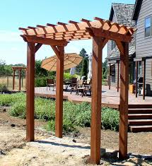 Garden Arch Plans Wonderful Simple Pergola Designs Withh Beautiful Swimming Pool