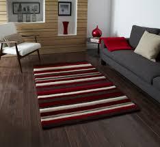 Modern Rugs Direct by Hong Kong 2022 Stripes Rug Runner Red Brown Buy Rugs Online At