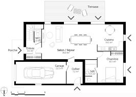 plan maison cuisine ouverte photo de cuisine ouverte sur sejour 17 plan maison 224 233tage