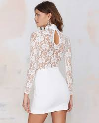 transparent dresses white transparent lace patchwork sheath polyster lace dress dr0151061