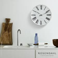 Home Decor Clocks Arne Jacobsen Romer Wall Clock Rosendahl Metropolitandecor