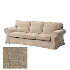 Ikea Sofa Covers Ektorp Ikea Ektorp 3 Seat Sofa Slipcover Cover Vellinge Beige Ebay