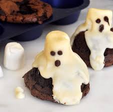 cooking with manuela halloween ghost brownies with marshmallows