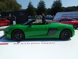 lexus vs audi r8 audi r8 v10 plus spyder stuns in unique shade of green autoguide