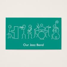 jazz band business cards templates zazzle
