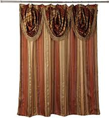 John Valance Plush Luxury Shower Curtains Vintage Coffee Patterned Luxury