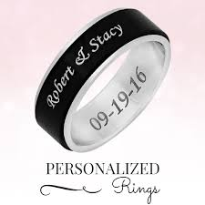 can titanium rings be engraved forevergifts inexpensive custom personalized gifts for women