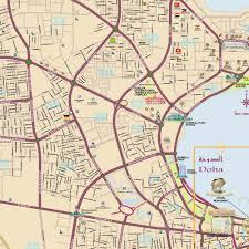 doha qatar map doha detailed city map mappery