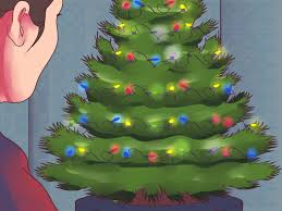 How To String Lights On Outdoor Tree Branches by 3 Ways To Hang Lights On A Christmas Tree Wikihow