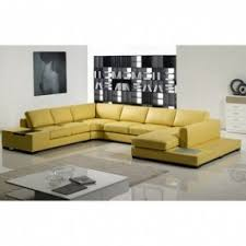 Martino Leather Sectional Sofa Yellow Leather Sectional Foter