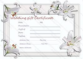 silver lily gift certificate template