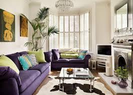 Purple Living Room Furniture Minimalist Living Room With Small And Cozy Purple Sofa Hupehome