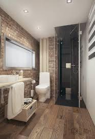 brick and wood bathroom interior design ideas