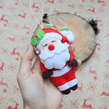 christmas ornament santa claus plush santa ornament tree