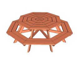 Free Plans For Patio Furniture by Ana White Octagon Picnic Table Diy Projects