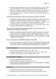 project manager resume examples cv examples uk and worldwide cv examples page 2