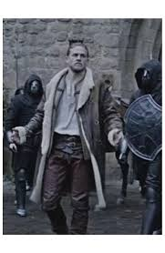 legend of the sword coat king arthur shearling long jacket