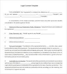 8 legal contract templates u2013 free word pdf documents download