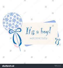 baby born card newborn card boy stock vector 388592500