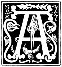 decorative initial letter a from 16th century