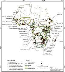 Subsaharan Africa Map Development Corridors And Mineral Facilities In Sub Saharan