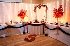 Wedding Head Table Decorations by Fall Head Table Ideas Champagne Hall Pinterest Head Tables