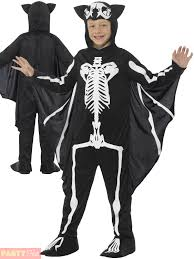 Skeleton Costume Boys Bat Skeleton Costume Childs Scary Halloween Vampire Fancy