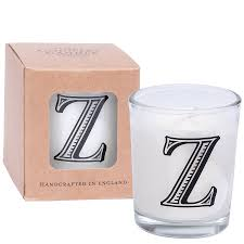 hand poured alphabet scented candle by the country candle company
