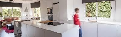 white island open plan kitchen u2014 melamine line e seff white