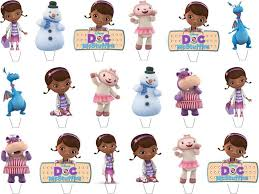doc mcstuffin cake toppers doc mcstuffins edible stand up wafer paper cupcake toppers