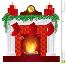 fireplace with christmas decoration illustration stock photography