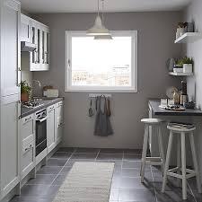 grey kitchen cabinets b q goodhome alpinia matt grey painted wood effect shaker highline cabinet door w 500mm