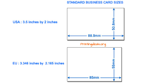 Thickness Of Business Card Business Card Sizes