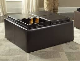 Coffee Table Storage Ottoman With Tray by Amazon Com Homelegance Contemporary Storage Ottoman With Four
