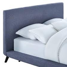 platform bed headboard full white metal platform bed with