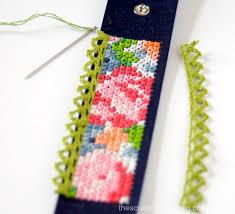 humanity bracelets cross stitch leather cuffs free patterns the scrap shoppe