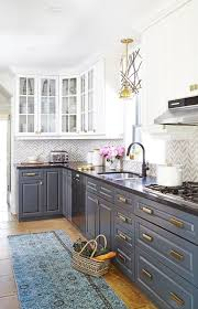 black lower kitchen cabinets white 25 edgy two tone kitchen designs you ll shelterness