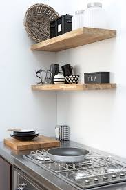 small kitchen shelving ideas diy idea floating wood butcher block shelving getting the