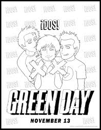 green coloring page green day dos coloring page by kelly42fox on deviantart