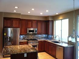 Kitchen Cabinet Lights Kitchen Endearing U Shape Kitchen Design Ideas Using Black Wood