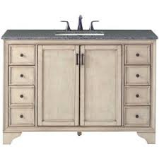 Home Depot Foremost Naples Vanity Foremost Naples 49 In W X 22 In D Bath Vanity In Distressed Grey