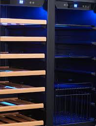 husky hus wc66b bk zy vino pro dual door wine storage cabinet and