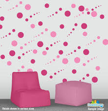 set of 78 square boxes wall decal stickers sq781001 19 97 pink and hot pink circle polka dot wall decal stickers