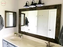 Bathroom Vanities Mirror Farmhouse Style Diy Vanity Mirrors Tutorial Must