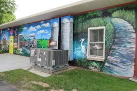 byron bergen public library mural dedication completed westside news bergen mural 2