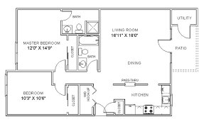 two bedroom apartment plan modern on bedroom throughout apartment