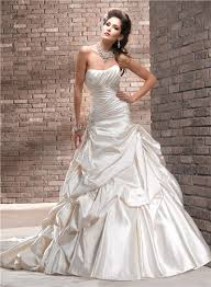 wedding dress ruching line strapless ruched chagne colored satin wedding dress