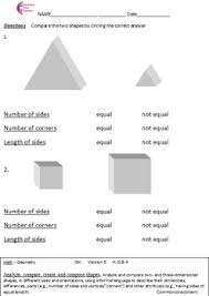 common core math worksheets geometry all standards k g a k g b