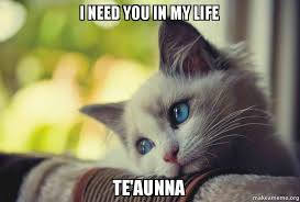 My Heart Will Go On Meme - i need you in my life te aunna make a meme