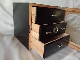 humidor cabinet for 80 cigars black lacquer external hygometer